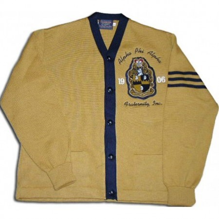 Omega Psi Phi Cardigan Letter Sweater